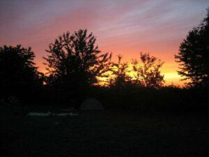 Öko-Familienurlaub Sonnenuntergang