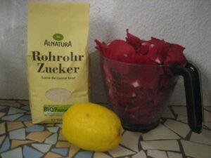 Rezept, Rosensirup, Rosenblütensirup, selber machen
