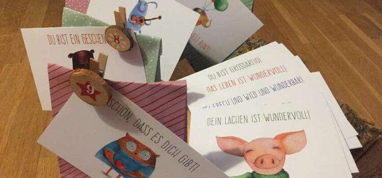 Meine Advents-Challenge: 24 Dankes-Postkarten an liebe Menschen