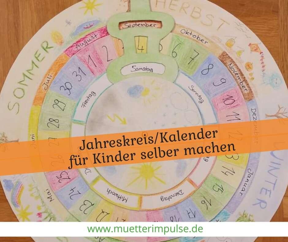 Diy Jahreskreis Kalender Fur Kinder Selber Machen Mutterimpulse
