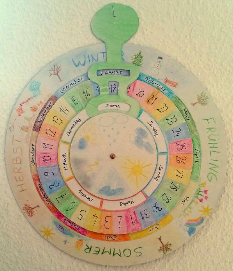Jahreskreis, Wandkalender für Kinder, Montessori