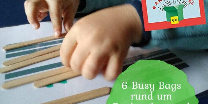 6 Busy Bags rund um Buchstaben und Zahlen + Verlosung